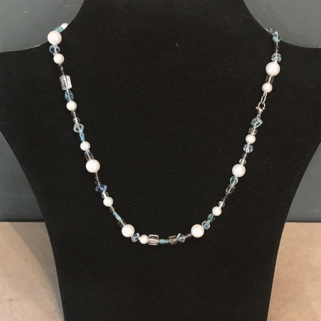 Dreierlei X Perlenkette Apatit