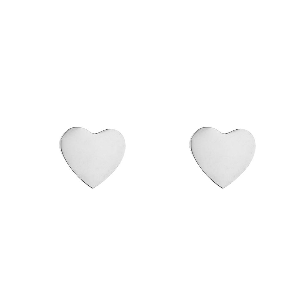 Mace X Silberner Ohrstecker Herz