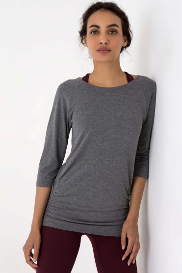 Free As Can Be Top Grey L