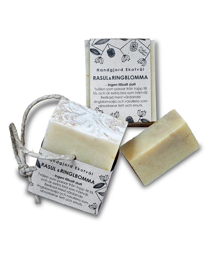 Ekologisk handgjord tvål - Rasul & Ringblomma