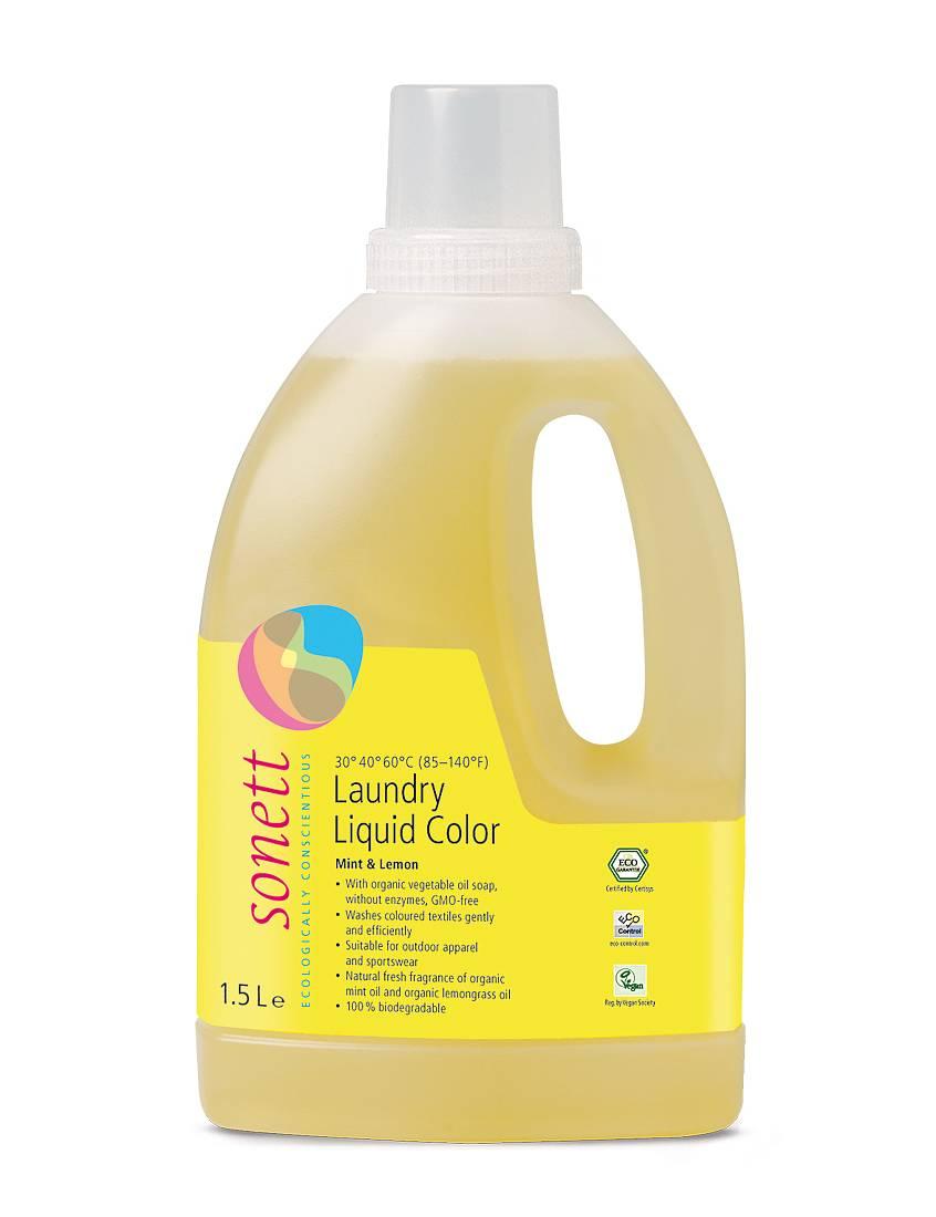 Sonett Tvättmedel kulör (Mint & Lemon) 1,5l