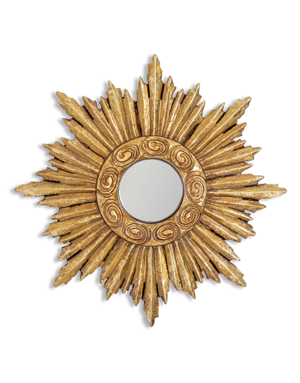 Antique Gold Convex Star Mirror