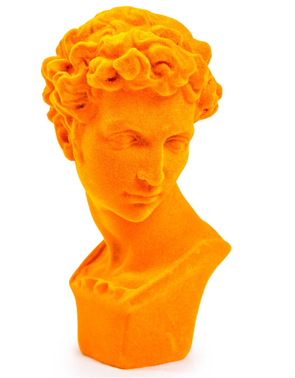 Orange Flock Classic Bust
