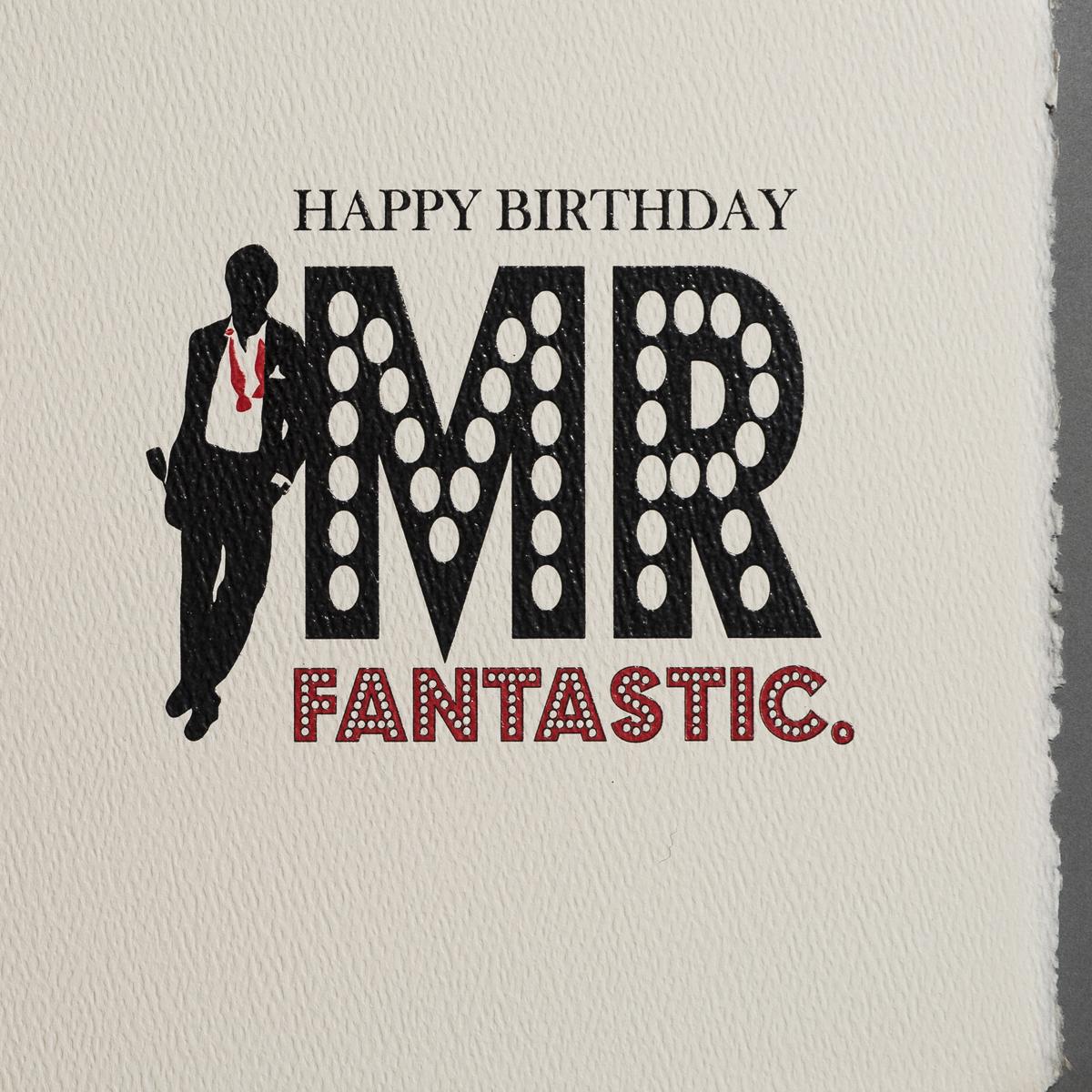 Happy Birthday Mr Fantastic