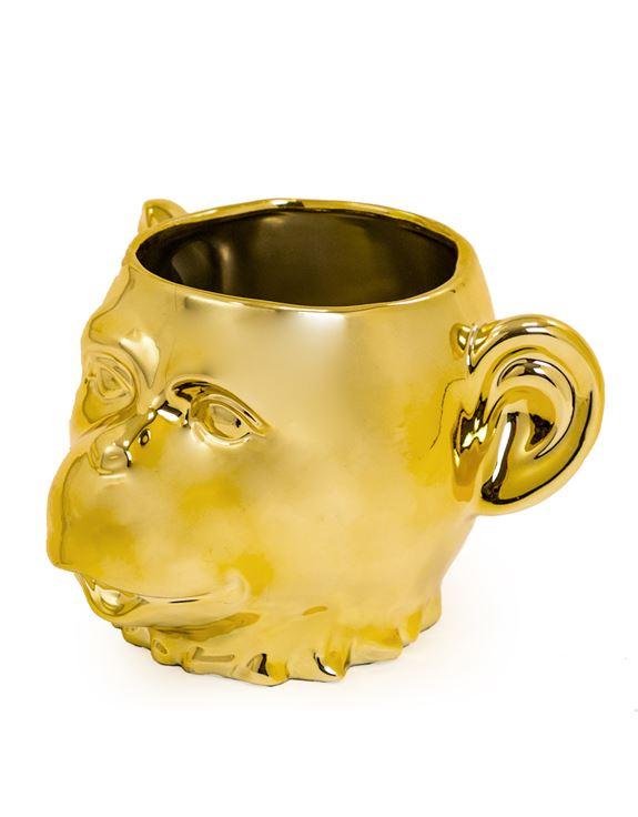 Gold Plated Monkey Head Pot