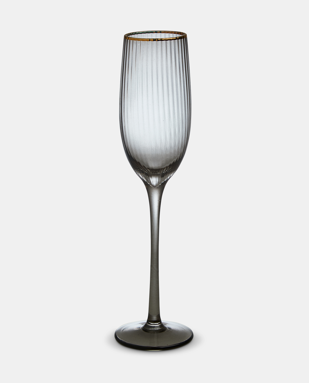 Italia Smoked Champagne Glass