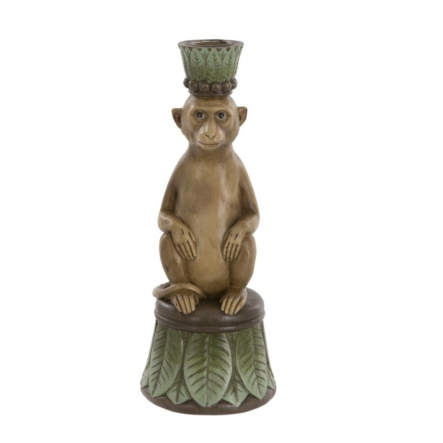 Antique style Monkey candle holder