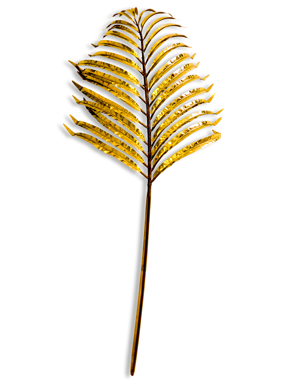 Metallic Gold palm Leaf Spray