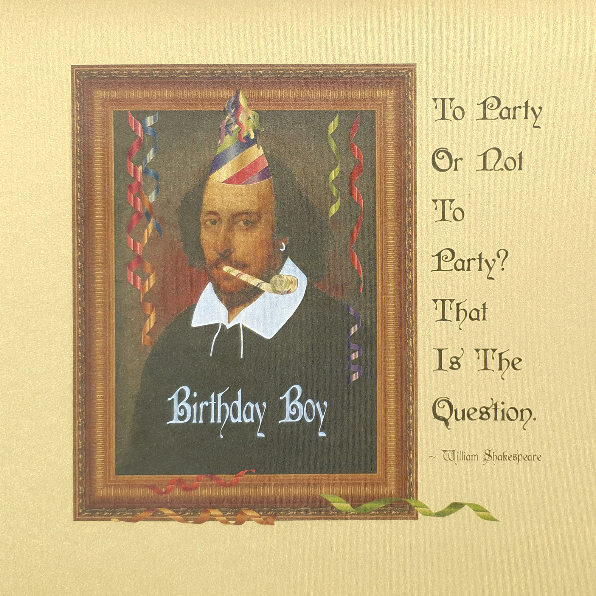 Shakespeare Party Card