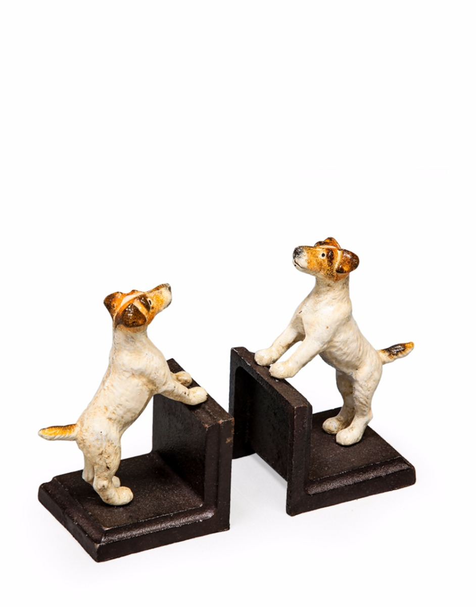 Cast Iron Terrier Dog Bookends