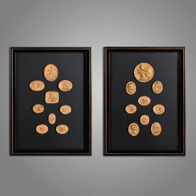 Golden Intaglios Frames set of 2