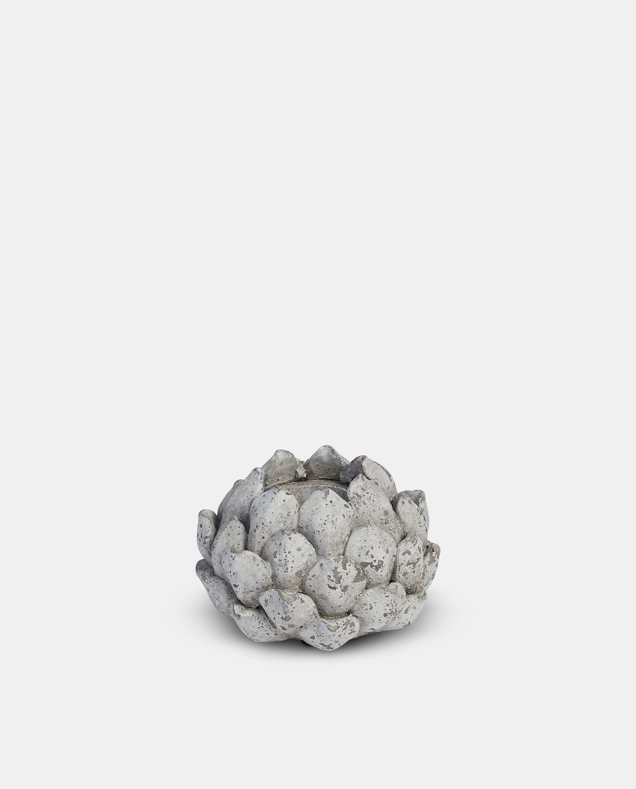 Stone Floral Candle Holder