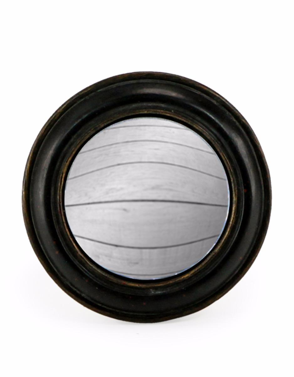 Small Round Black framed mirror