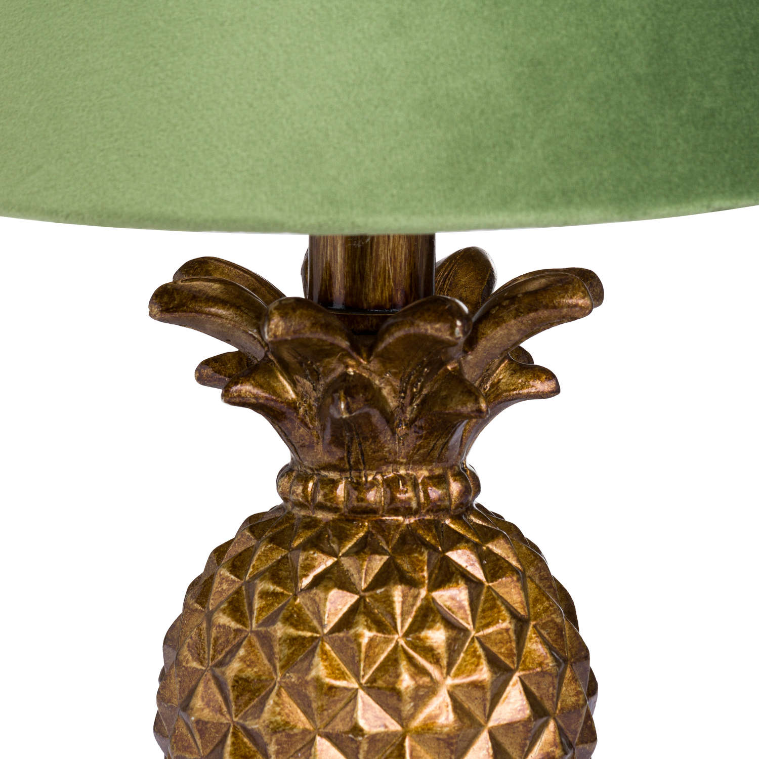 Antique Gold Pineapple Lamp + Artichoke Shade with Gold Lining