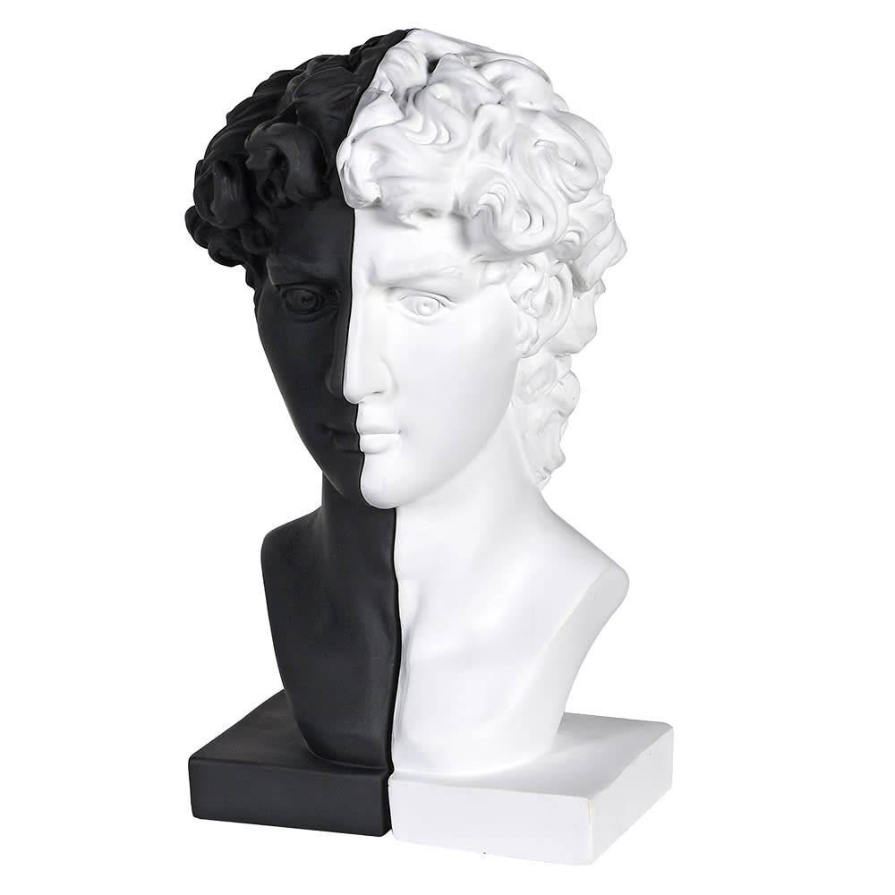Classical Black & White Bookends - male