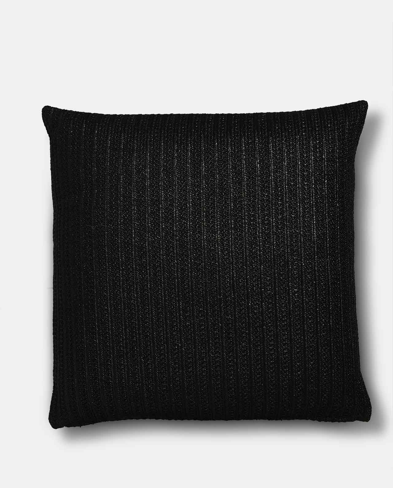 Black Jute Cushion Cover 60x60cm