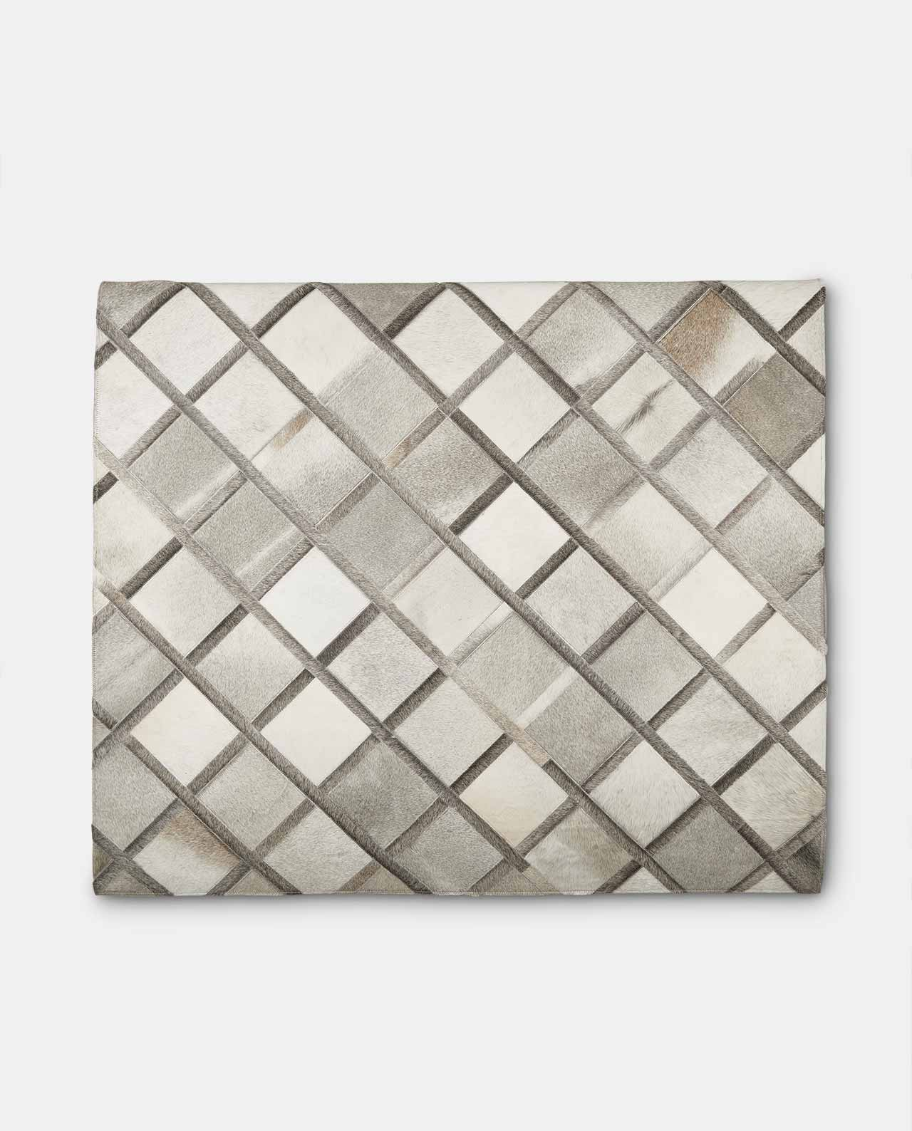 Charcoal Cowhide Leather Rug