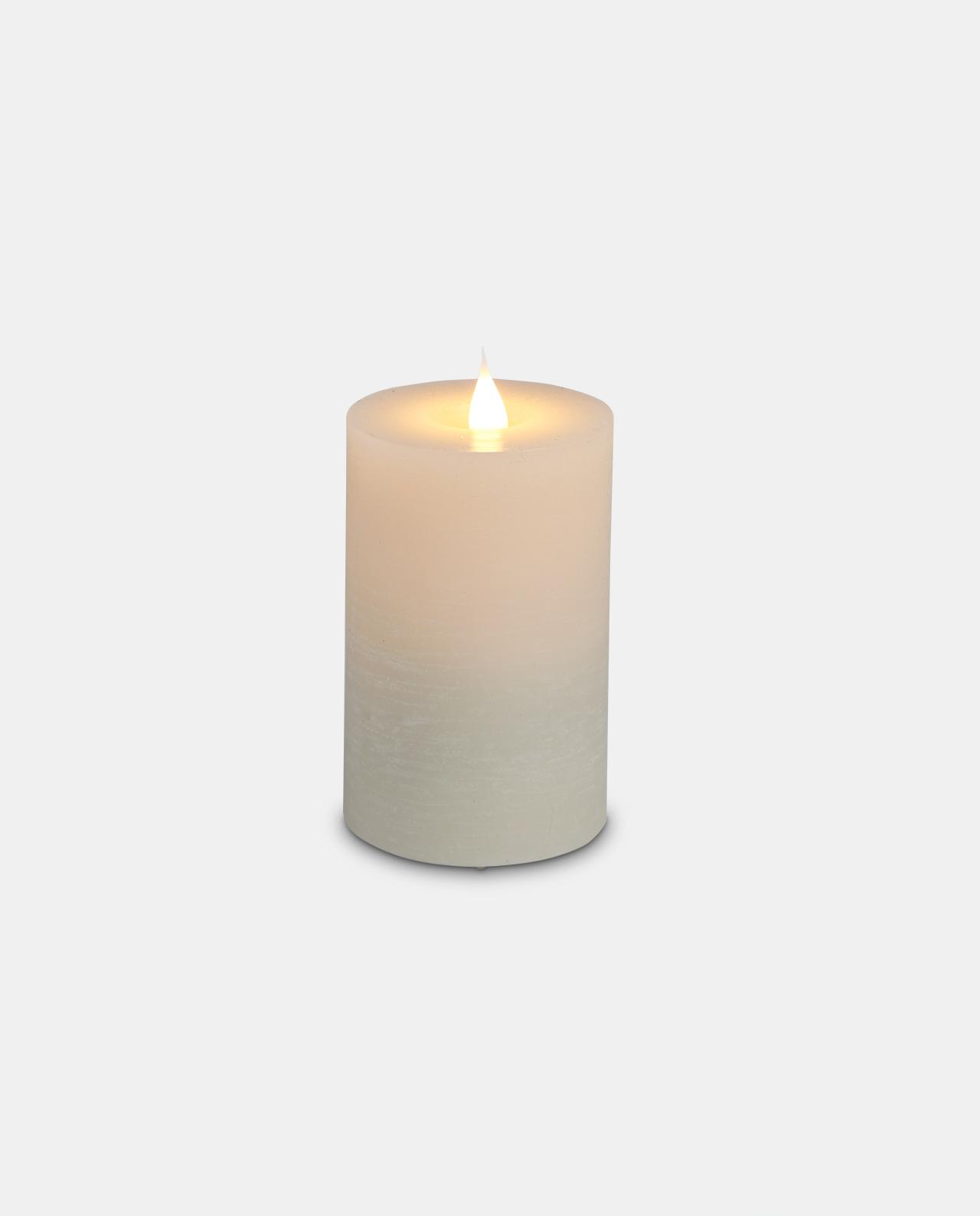 Ivory Wax LED Pillar Candle 12cm