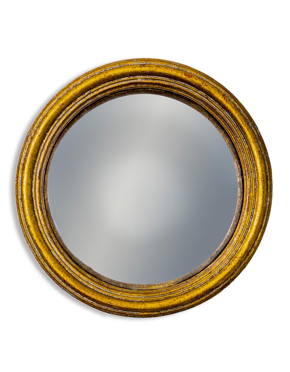 Gold Small Convex Mirror