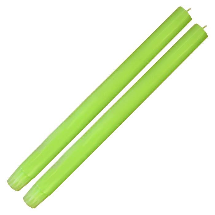 Single Fluro Green Dinner Candle