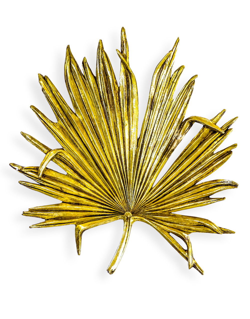 Large Wall DEcoration Gold Palm Leaf