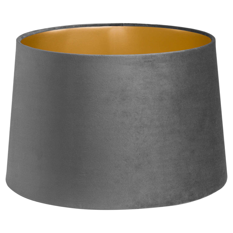Grey Velvet lampshade