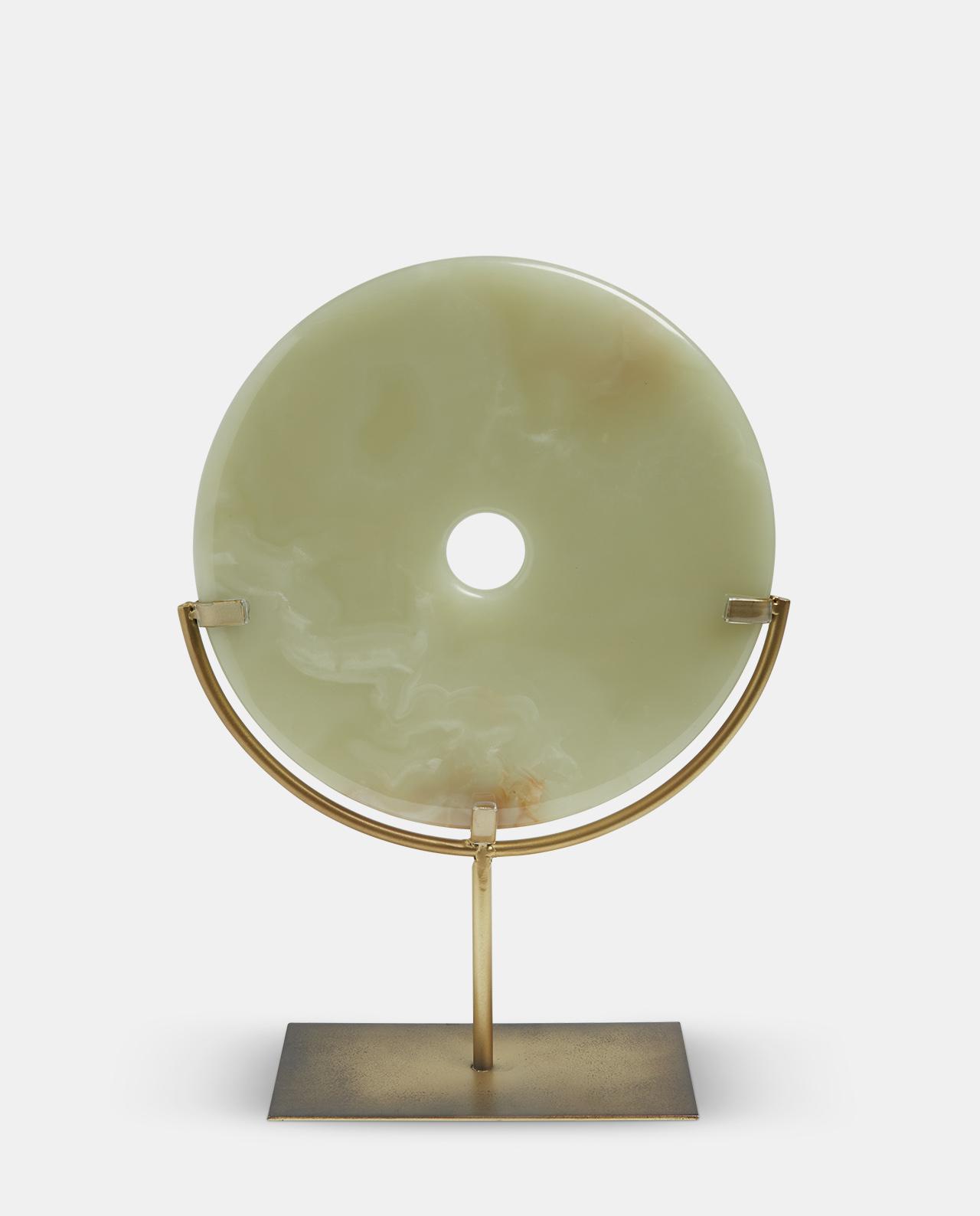Natural Jade Disc Large