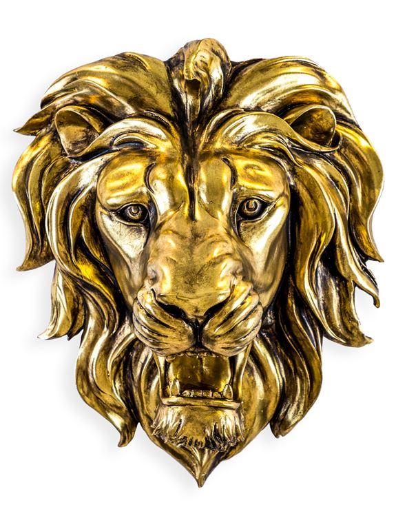 Gold Lion Wall Head