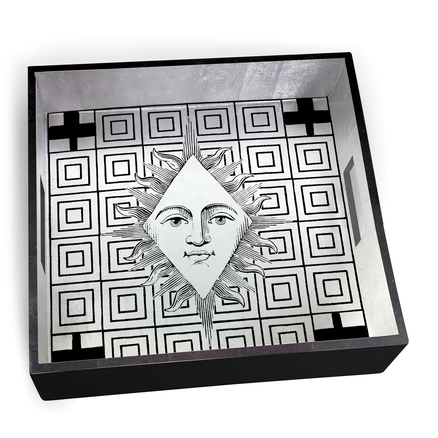 Christian Lacroix Poker Face Square Lacquer Tray