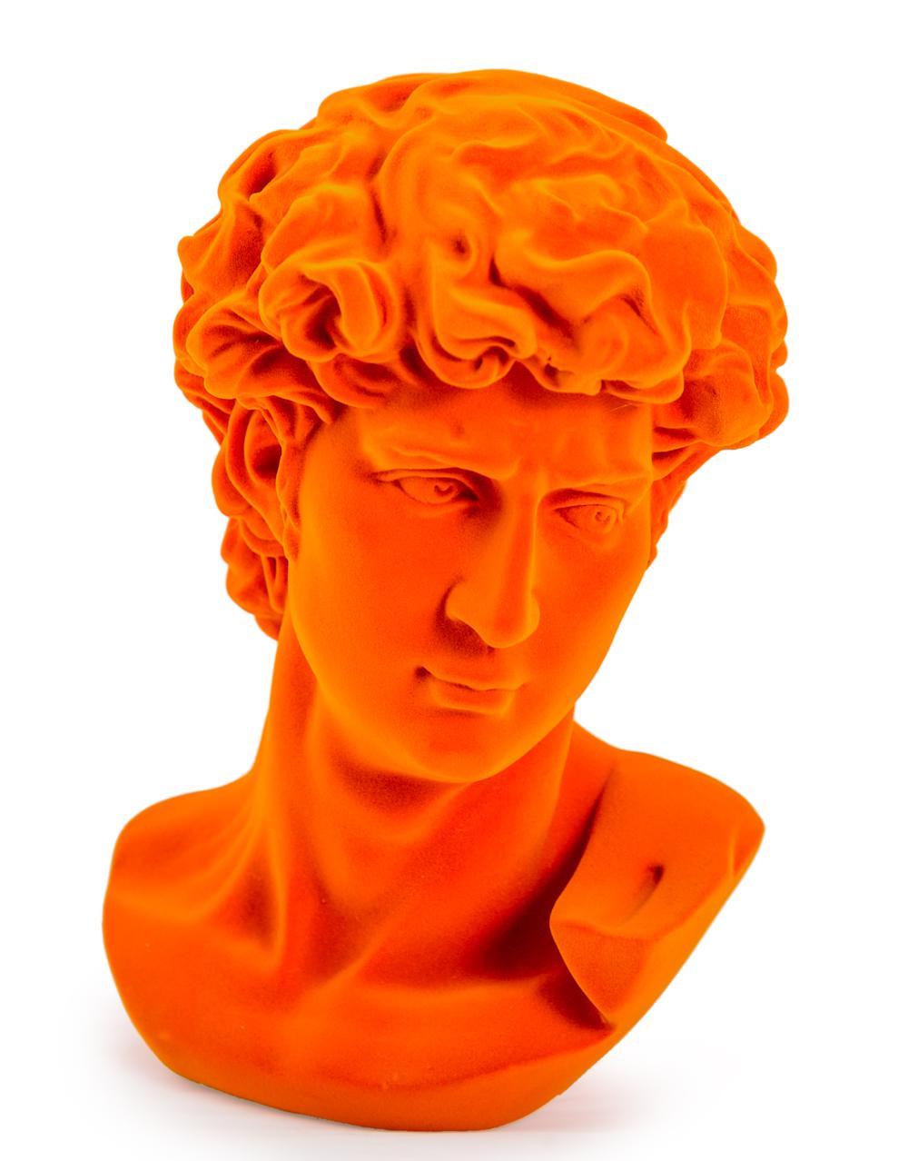 Flock David Bust Orange