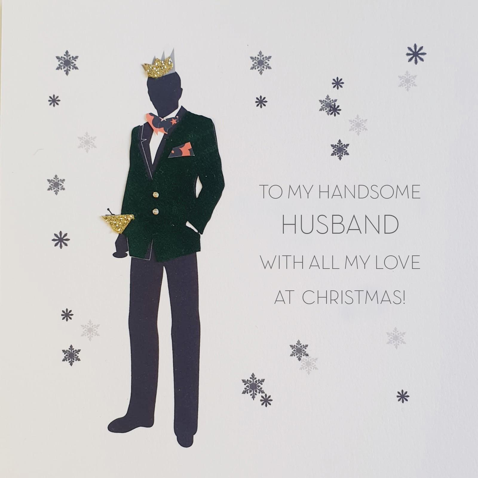 Handsome Husband Xmas card
