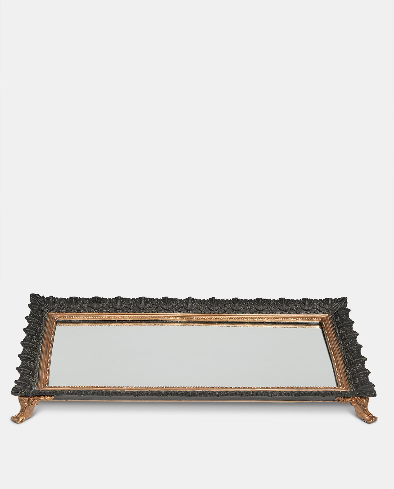 Black & Gold Mirrored Tray