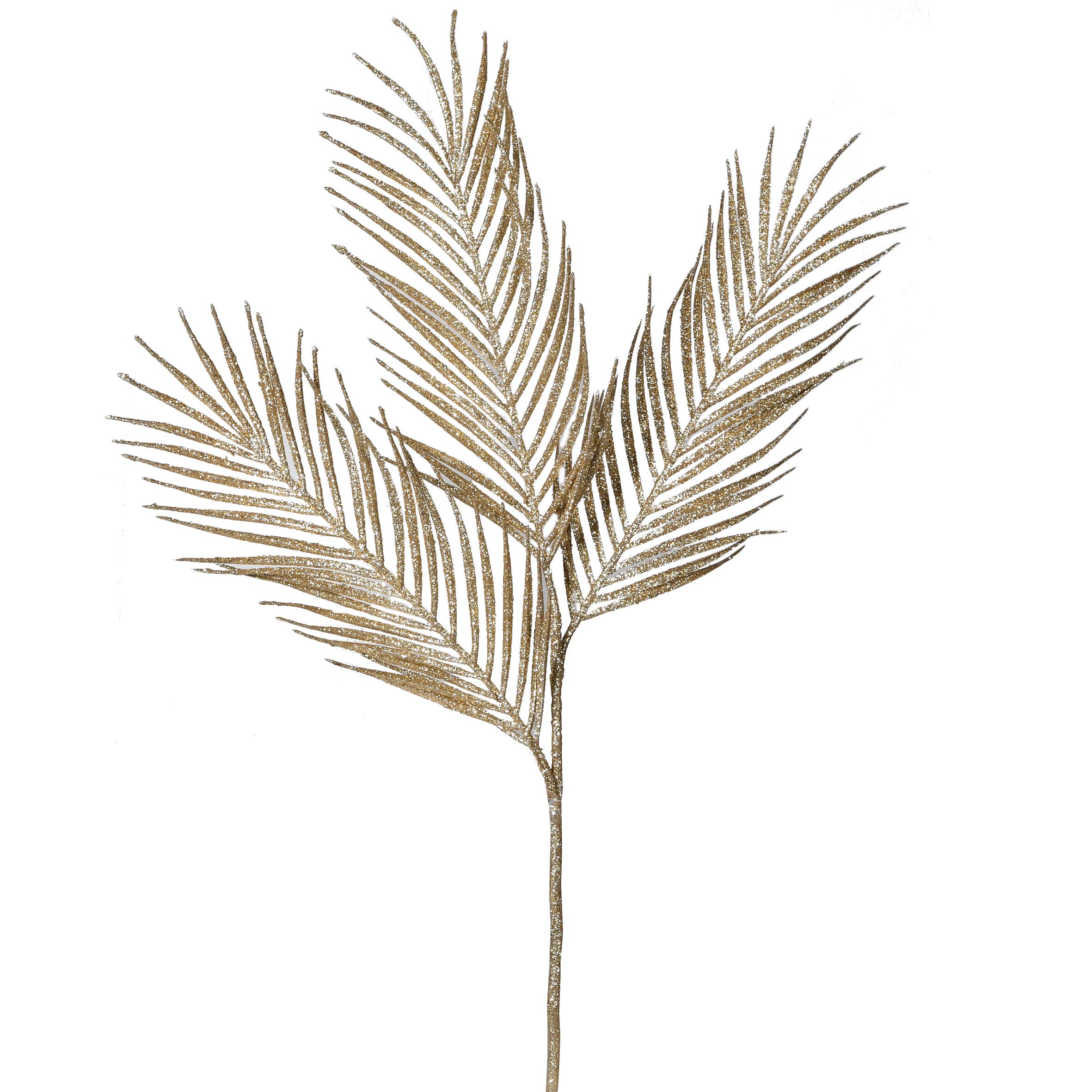 Gold Three Leaf Palm Stem