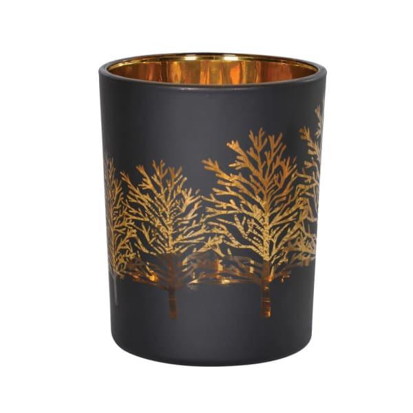 Black & Gold Tree Tealight Holder