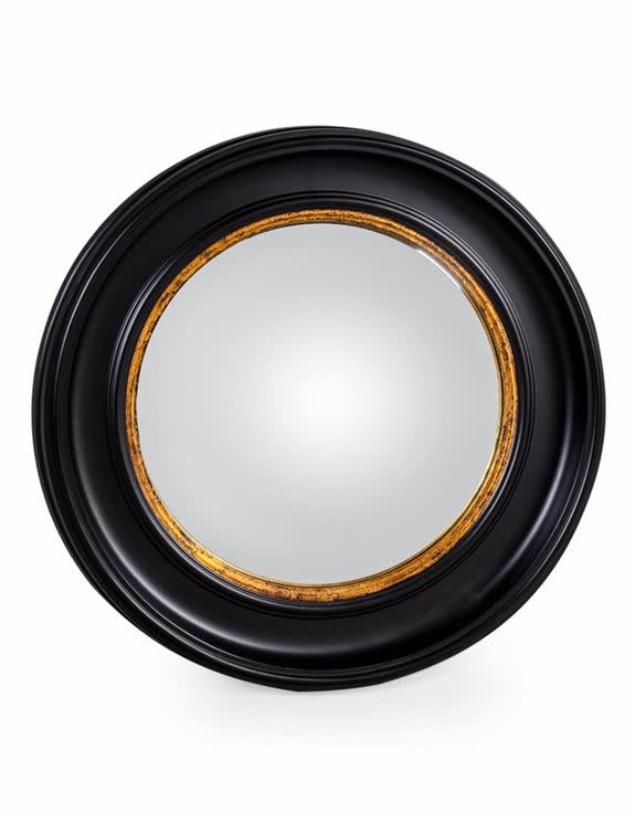 Black Gold Convex Mirror Medium