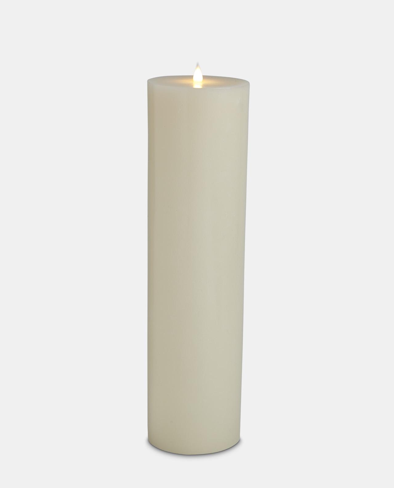 Ivory Wax LED Pillar Candle 48cm