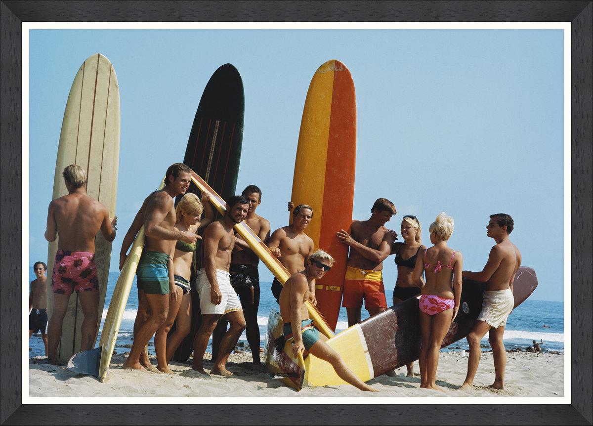 Surfers Framed Print