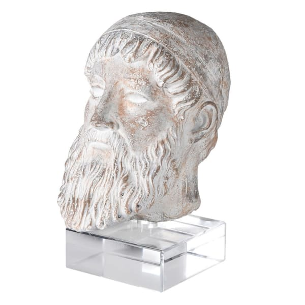 Zeus Head on Acrylic Plinth