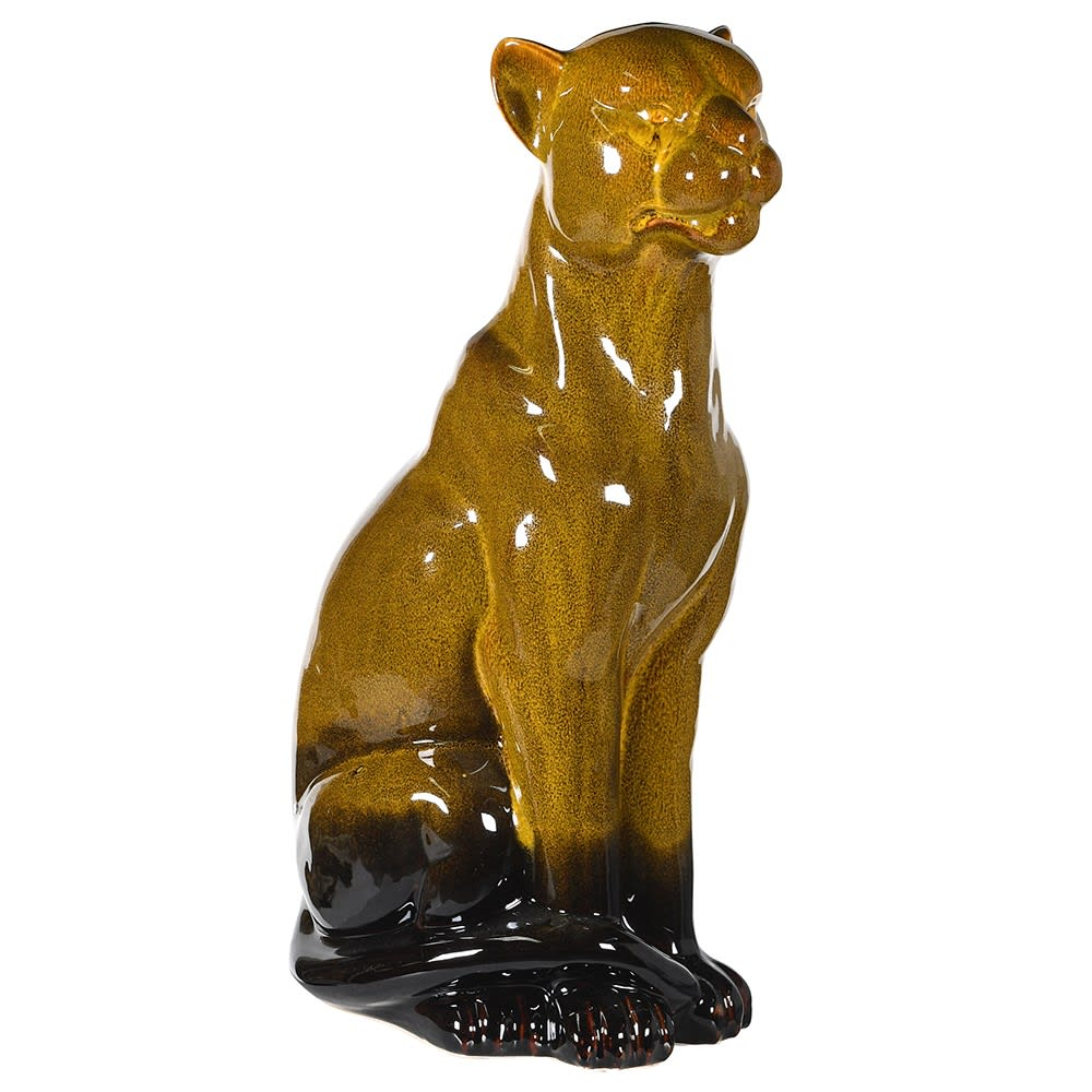 Ceramic Sitting Leopard