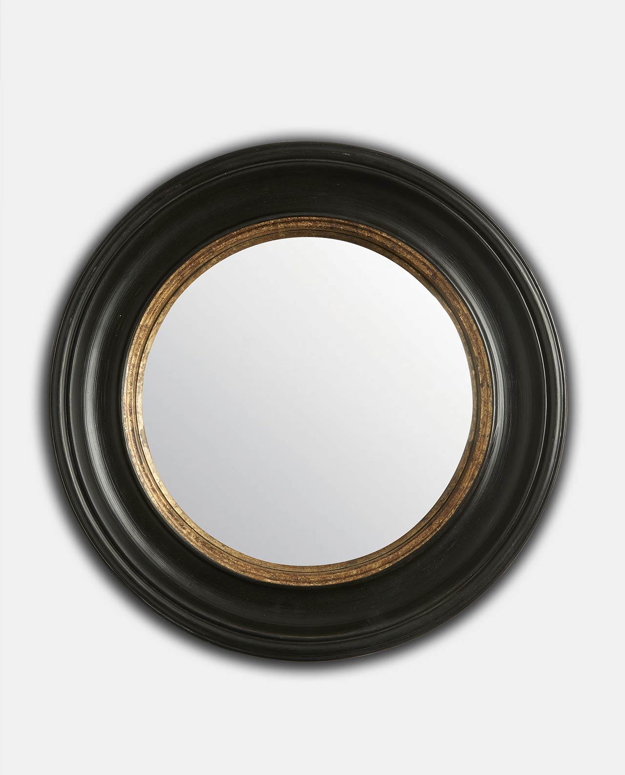 Black & Gold Round Convex 52cm
