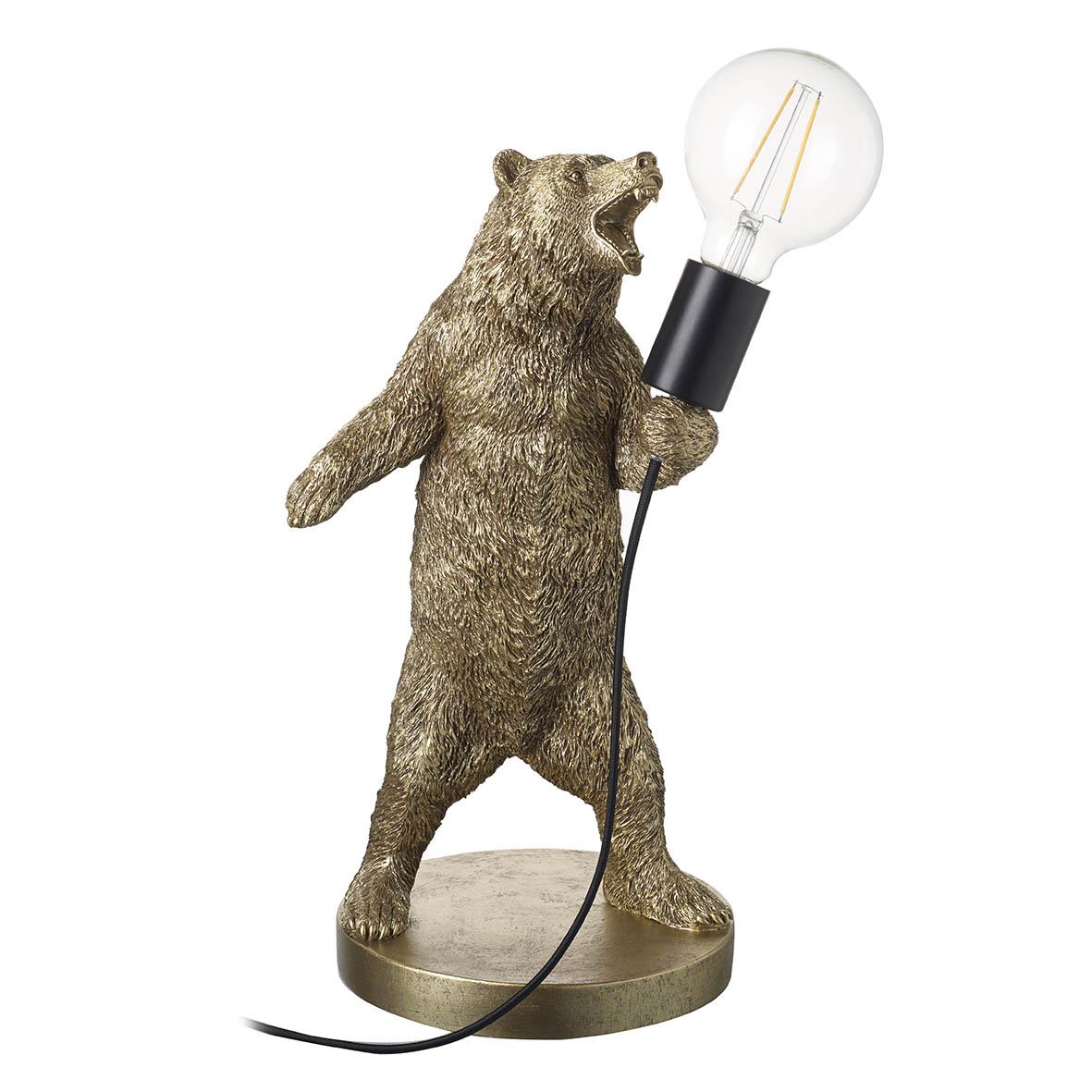 Bear Table Lamp Gold