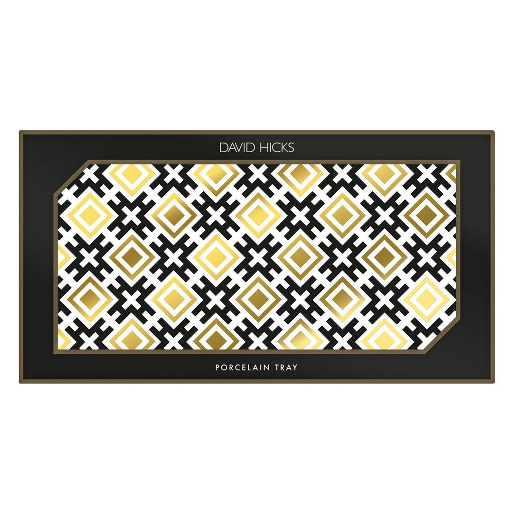 David Hicks Tray Black & Gold