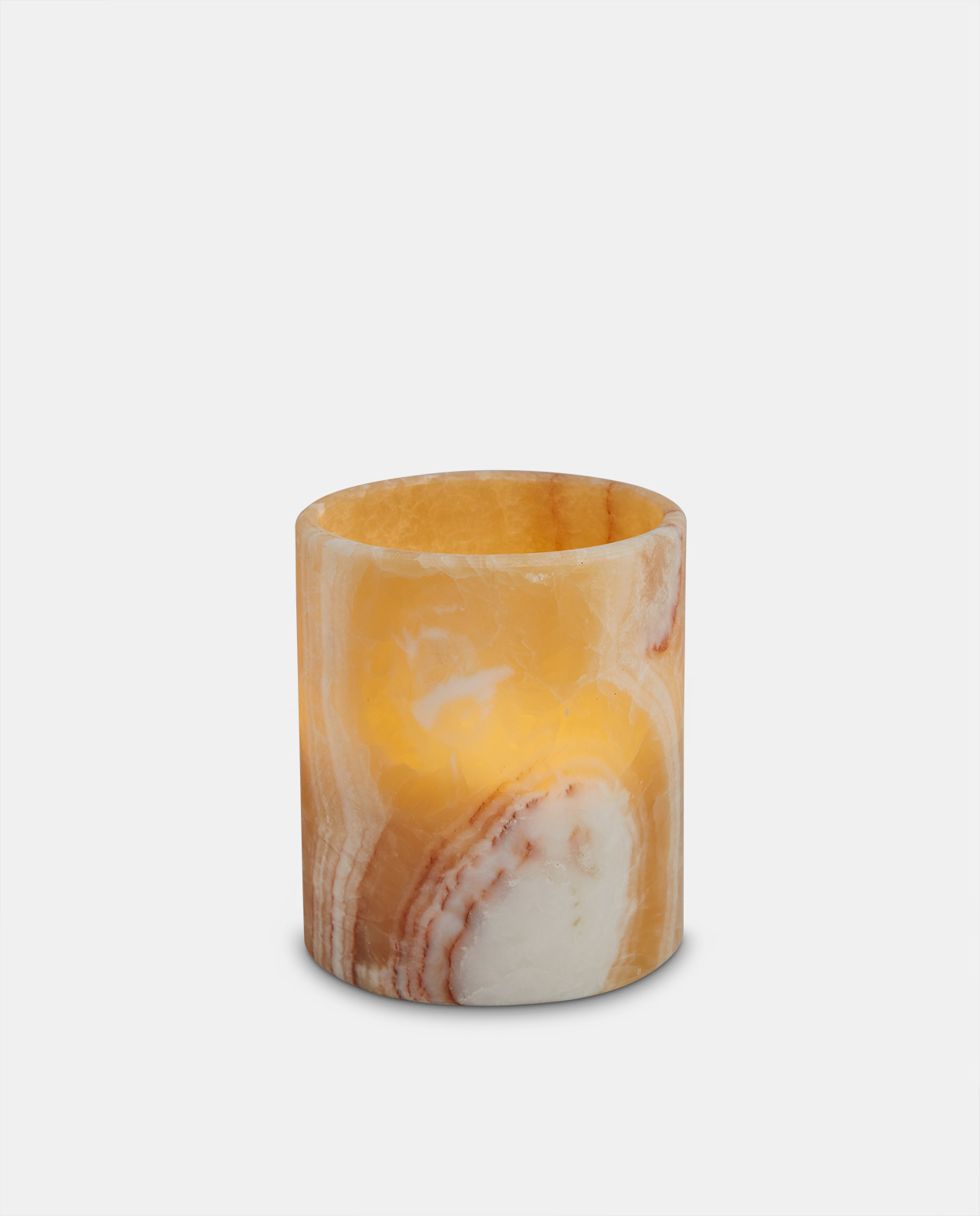 Marble LED candle 15cm