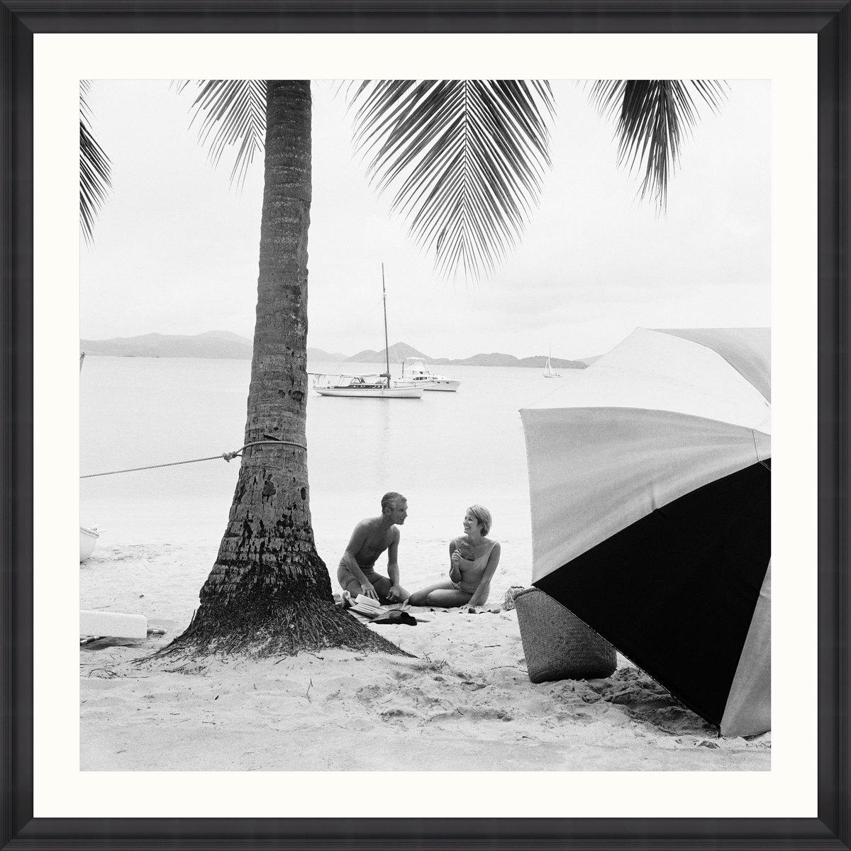 ON THE BEACH Framed Art