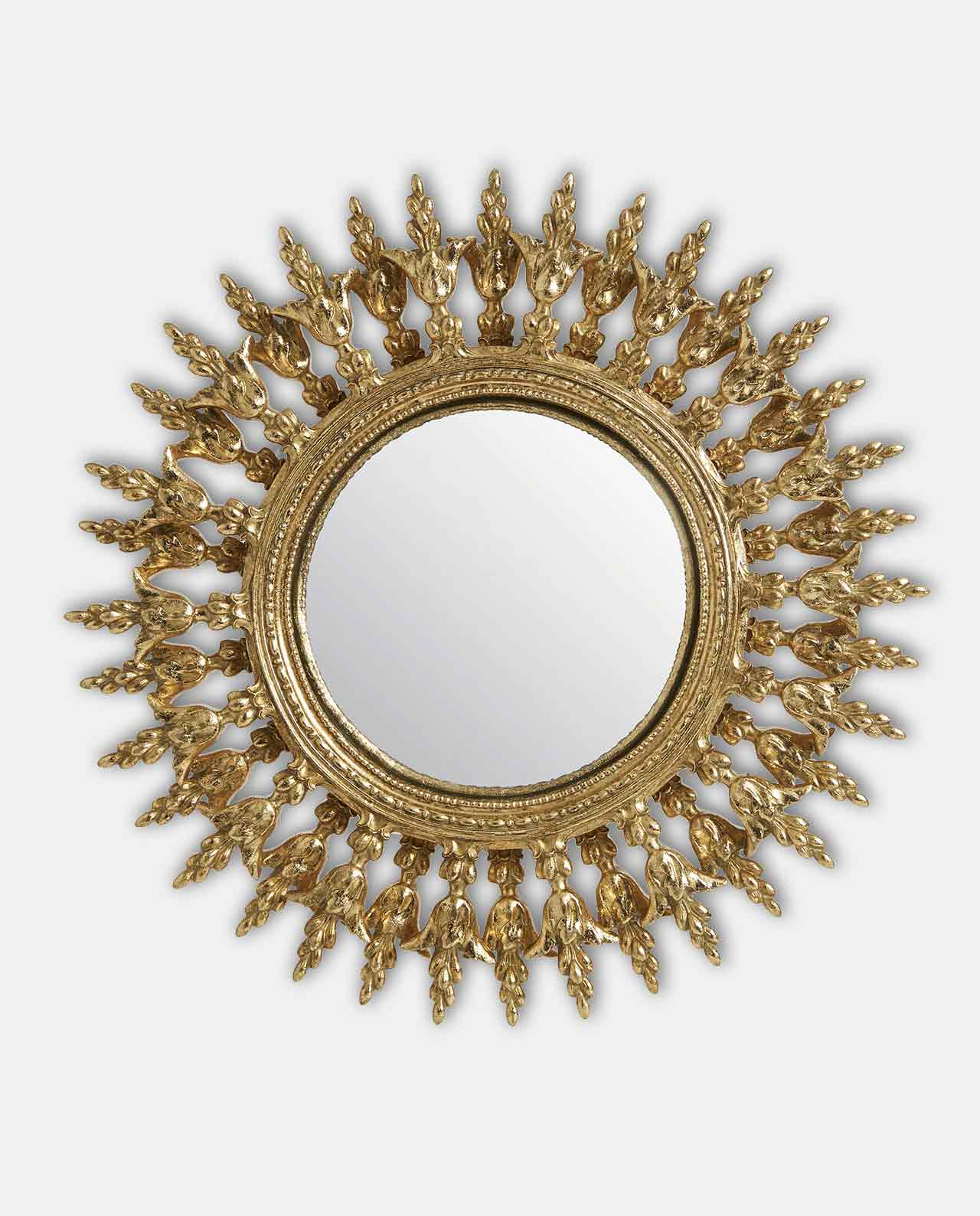 Gold Round Double Layered Convex Mirror 28cm