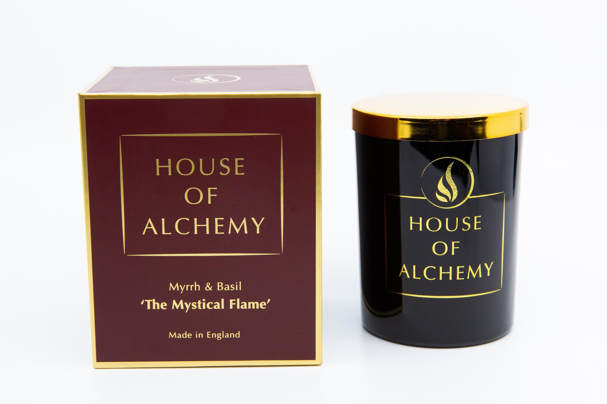 Mystical Flame 250g Basil & Myrrh Candle