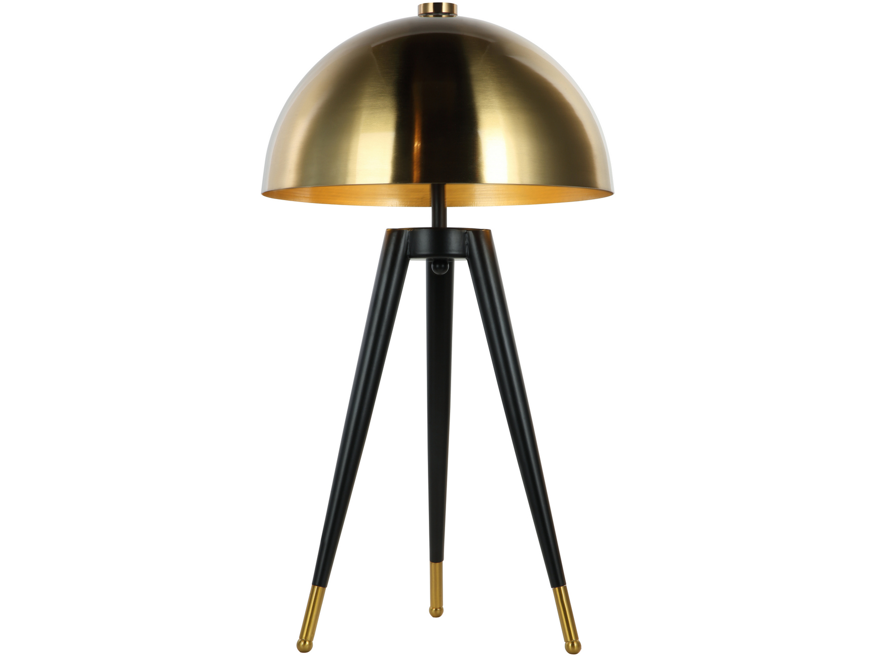 Corvus Tripod Table Lamp with Brass Coloured Shade