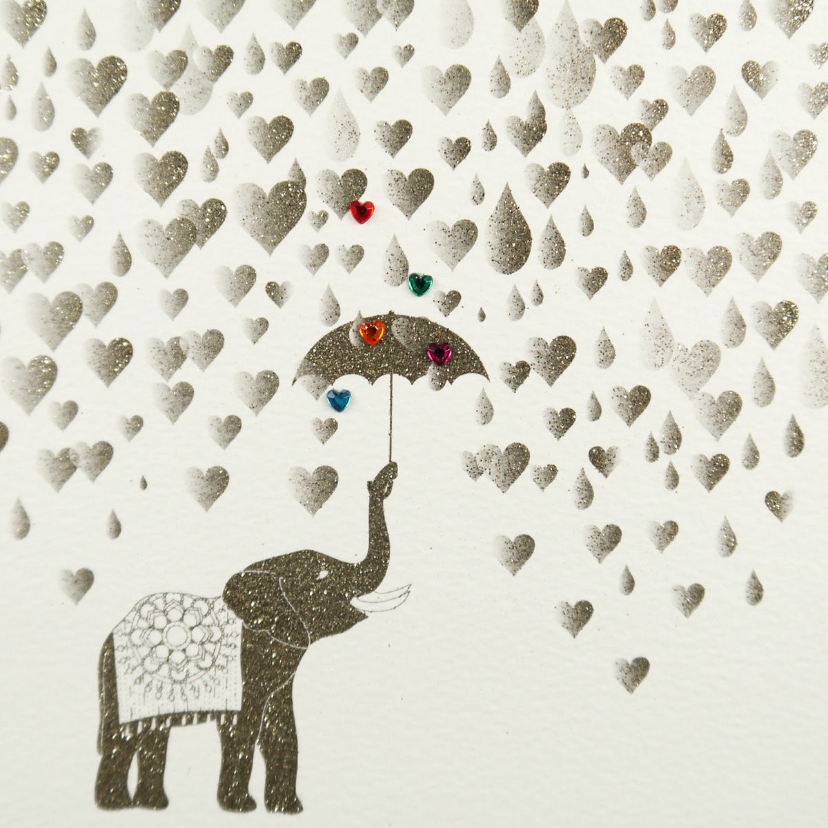 Elephant Raining Hearts