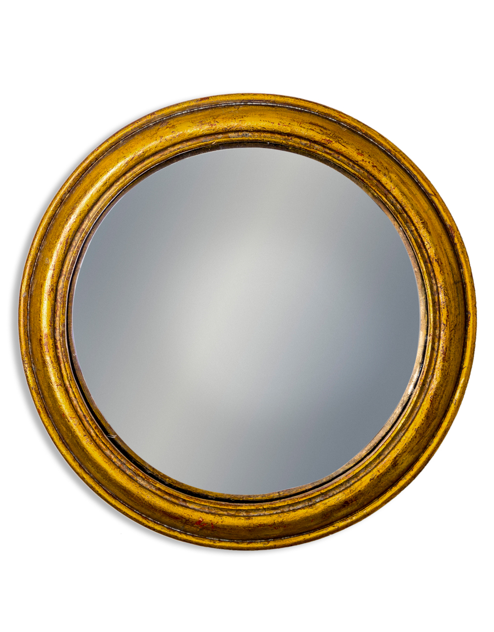 Gold Rounded Framed Large Convex Mirror