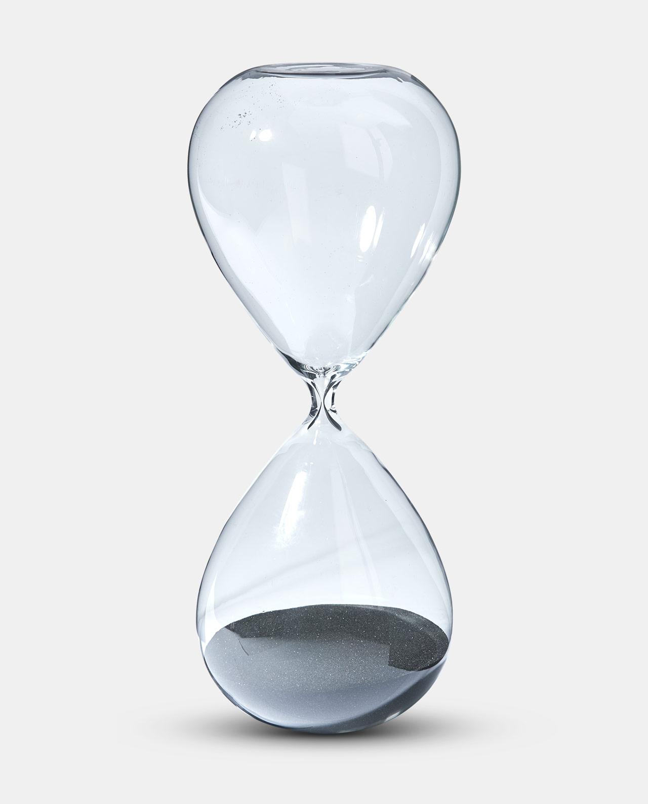 Black Sand Hour Glass 38cm